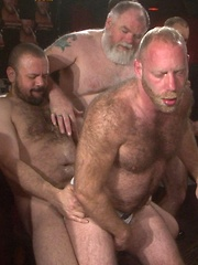 Furry guys are all warmed up with their dicks ready to go in holes every way they can